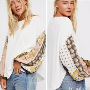 Free People Ivory Blossom Thermal